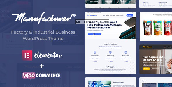 Manufacturer v1.3.2 – Factory and Industrial WordPress Theme