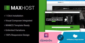 MaxHost v7.3.0 – Web Hosting, WHMCS and Corporate Business WordPress Theme with WooCommerce