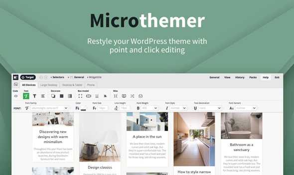 MicroThemer v6.3.4.9 – WordPress CSS Editor