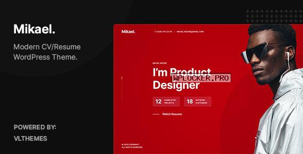 Mikael v1.0.3 – Modern & Creative CV/Resume WordPress Theme