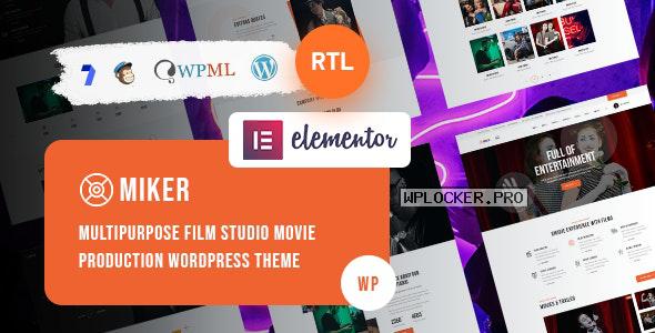 Miker v1.0 – Movie and Film Studio WordPress Theme