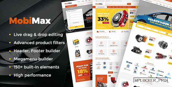 Mobimax v3.5 – Auto Parts WordPress Theme + WooCommerce Shop