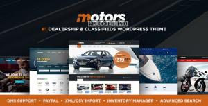 Motors v4.9.6 – Automotive, Cars, Vehicle, Boat Dealership