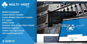 Multi Hosting v2.3 – WHMCS WordPress Theme