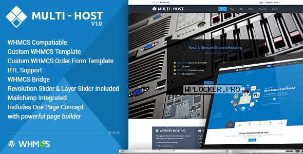 Multi Hosting v2.3 – WHMCS WordPress Theme