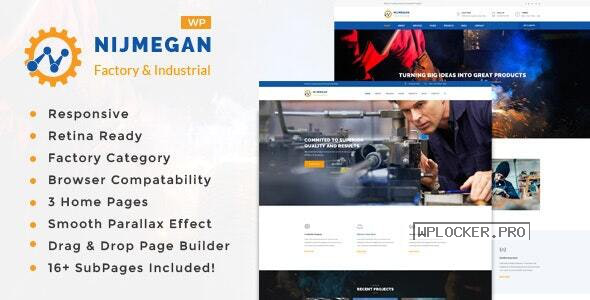 Nijmegan v1.6- Factory and Industrial Business WordPress Theme