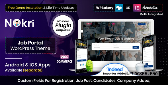 Nokri v1.4.1 – Job Board WordPress Theme
