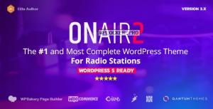 Onair2 v3.8.9 – Radio Station WordPress Theme