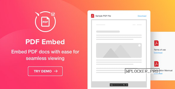 PDF Embed v1.1.1 – WordPress PDF Viewer plugin