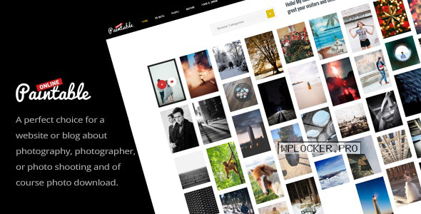 Paintable v2.4 – Photography and Blog / Photos Download Theme