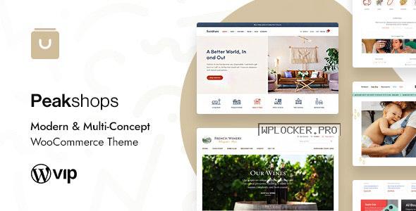 PeakShops v1.3.9.5 – Modern & Multi-Concept WooCommerce Theme