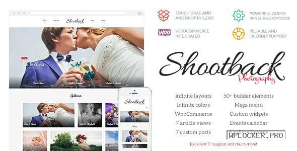 Shootback v1.1.5 – Retina Photography WordPress Theme