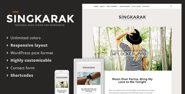 Singkarak v1.0.8 – Responsive WordPress Blog Theme