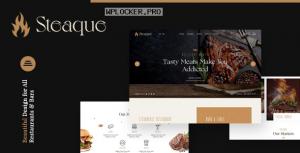 Steaque v1.0.0 – Restaurant and Cocktail Bar WordPress Theme