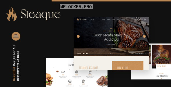 Steaque v1.0.0 – Restaurant and Cocktail Bar WordPress Theme