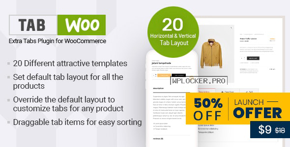 TabWoo v1.0.6 – Custom Product Tabs for WooCommerce