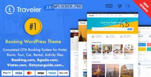 Traveler v2.9.1 – Travel Booking WordPress Theme
