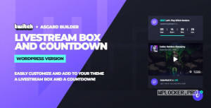 Twitch LiveStream Box and Countdown v1.1.1 – WordPress Plugin