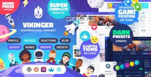 Vikinger v1.1.1 – BuddyPress and GamiPress Social Community