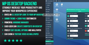 WP OS Desktop Backend v1.157 – More than a WordPress Admin Theme