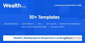 Wealth v1.2.9 – Multi-Purpose Landing Page Theme