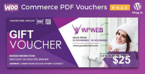 WooCommerce PDF Vouchers v4.2.5 – WordPress Plugin