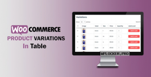 WooCommerce Variations In Table v1.0.6