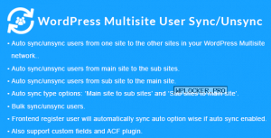 WordPress Multisite User Sync/Unsync v1.5.0
