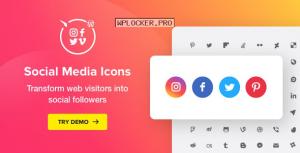 WordPress Social Media Icons v1.7.1 – Social Icons Plugin