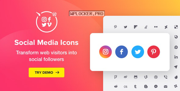 WordPress Social Media Icons v1.7.1 – Social Icons Plugin