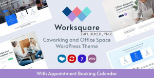 Worksquare v1.2 – Coworking and Office Space WordPress Theme
