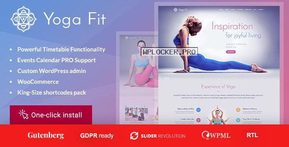 Yoga Fit v1.2.9 – Sports, Fitness & Gym WordPress Theme