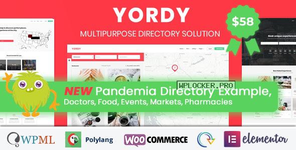 Yordy v1.4 – Directory Listings WordPress Theme