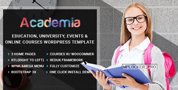 Academia v3.3 – Education Center WordPress Theme