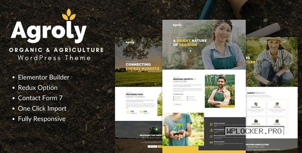 Agroly v1.0 – Organic & Agriculture Food WordPress Theme