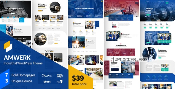 Amwerk v1.0.1 – Industry WordPress Theme