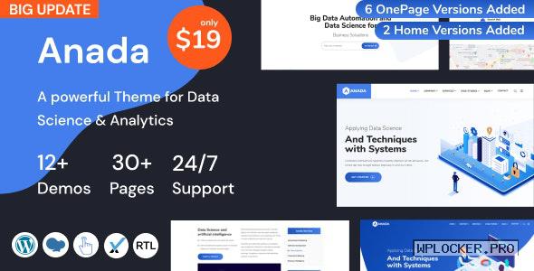 Anada v1.2.0 – Data Science & Analytics Saas WordPress Theme