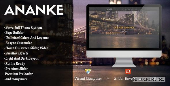 Ananke v3.8.6 – One Page Parallax WordPress Theme