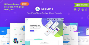AppLand v2.9.4 – WordPress Theme For App & Saas Products