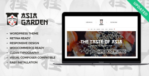 Asia Garden v1.2.1 – Asian Food Restaurant WordPress Theme