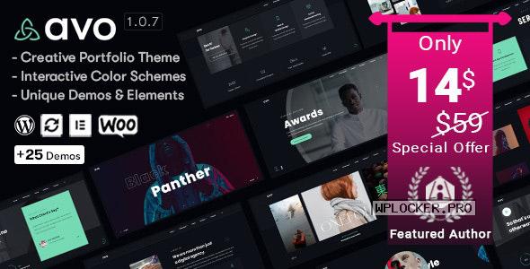 Avo v1.0.7 – Creative Portfolio & Agency WordPress Theme