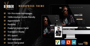 Barber v1.7 – Hair, Tattoo & Beauty Salons Theme