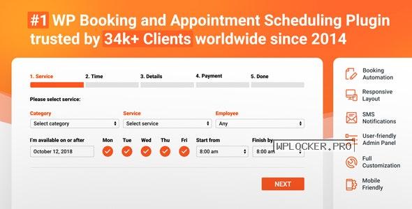 Bookly Booking Plugin v19.3 + Addons
