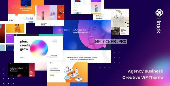 Brook v2.2.0 – Agency Business Creative WordPress Theme