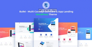 Bufet v2.1.6 – Multi Concept Software & App Landing WordPress Theme + RTL