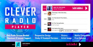 CLEVER v2.0.0 – HTML5 Radio Player With History – Shoutcast and Icecast – WordPress Plugin