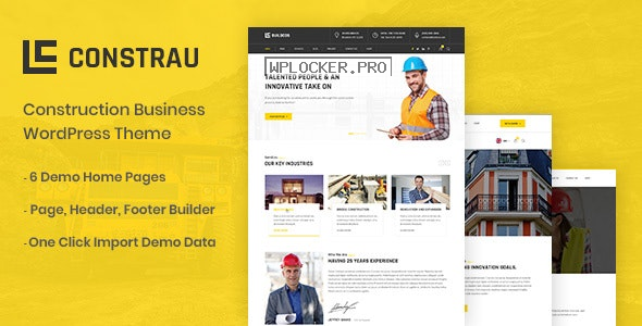 Constrau v1.1.4 – Construction Business WordPress Theme