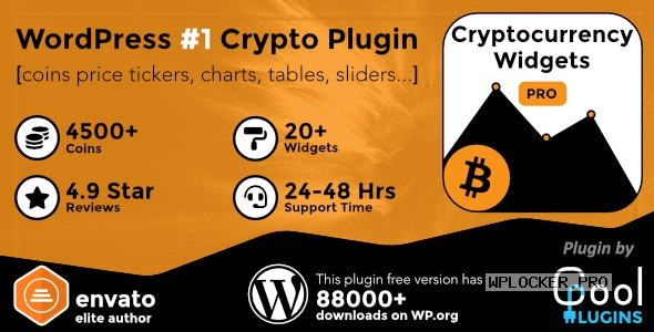 Cryptocurrency Widgets Pro v2.6 – WordPress Crypto Plugin