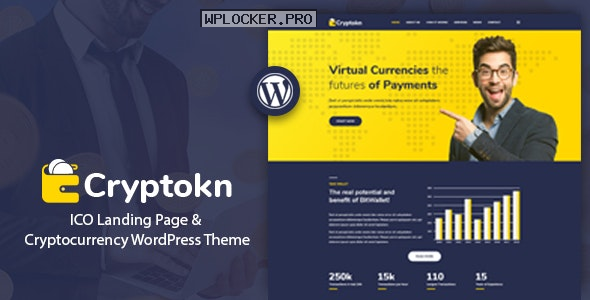 Cryptokn v1.2 – ICO Landing Page & Cryptocurrency Theme