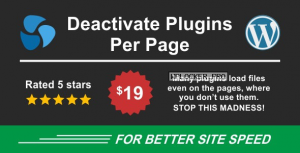 Deactivate Plugins Per Page v1.12.0 – Improve WordPress Performance